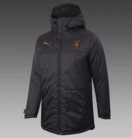 Manchester City 20/21 Winter Cotton Coat Black