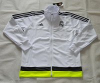 2015-16 Real Madrid Soccer Jacket White