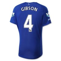 Everton 2015-16 GIBSON #4 Home Soccer Jersey