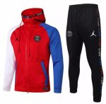PSG AJ 20/21 Tracksuits Hoodie Jackets Red and Pants