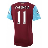 West Ham 2015-16 VALENCIA #11 Home Soccer Jersey