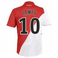 13-14 AS Monaco FC #10 James Home Soccer Jersey Shirt