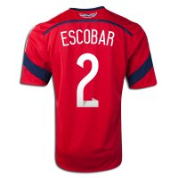 2014 FIFA World Cup Colombia Andres Escobar #2 Away Soccer Jersey