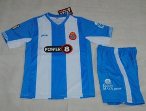 2015-16 Kids Espanyol Home Soccer Kit(Shirt+Shorts)