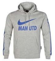 Manchester United 14/15 Grey Core Hoody Top
