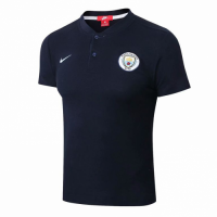 Manchester City 18/19 Polo Jersey Shirt Navy