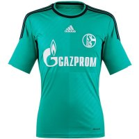 13-14 Schalke 04 Away Green Jersey Shirt