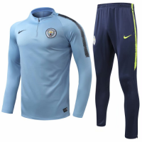 Manchester City 18/19 Sweat Shirt Tracksuits Blue With Pants