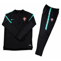 Kids Portugal 2018 Training Jacket Tracksuits Black and Pants