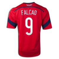 2014 FIFA World Cup Colombia Radamel Falcao #9 Away Soccer Jersey
