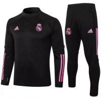 Real Madrid 20/21 Tracksuit Black Training Sweat Top and Pants