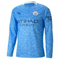 Manchester City 20/21 Long Sleeve Home Soccer Jersey