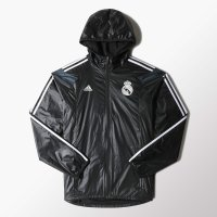 Real Madrid 2014/15 3rd Anthem Track Top Jacket Windbreaker Black