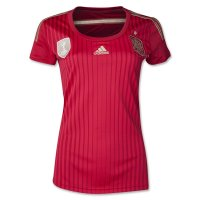 2014 Spain Home Red Women's Jersey Shirt