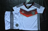 Kids 2014 World Cup Germany Home Whole Kit(Shirt+Shorts)