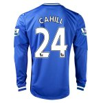 13-14 Chelsea #24 CAHILL Home Long Sleeve Jersey Shirt