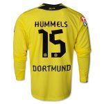 13-14 Borussia Dortmund #15 HUMMELS Home Long Sleeve Shirt