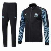 Marseilles 18/19 Training Jacket Top Tracksuit Black With Pants