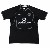 Retro Manchester United 00/02 Black Goalkeeper Soccer Jersey Shirt