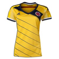 Women 2014 FIFA World Cup Colombia Home Yellow Soccer Jersey