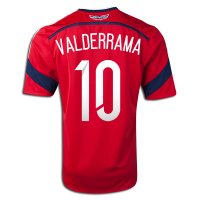 2014 FIFA World Cup Colombia Carlos Valderrama #10 Away Soccer Jersey