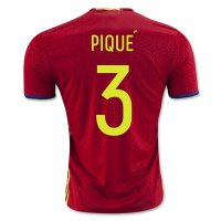 Spain 2016 PIQUE #3 Home Soccer Jersey