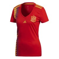 Spain 2018 World Cup Home Women Soccer Jersey Shirt