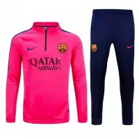 Barcelona 2015-16 Pink Sweater Suit With Pants