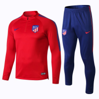 Atletico Madrid 18/19 Training Sweat Top Tracksuit Red With Pants