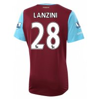 West Ham 2015-16 LANZINI #28 Home Soccer Jersey