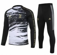 Juventus 20/21 Tracksuit Black Grey Training Sweat Top and Pants