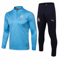 Marseilles 18/19 Training Sweat Top Tracksuit Blue With Pants