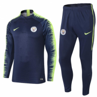 Manchester City 18/19 Sweat Shirt Tracksuits Blue Green With Pants