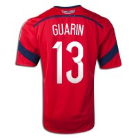 2014 FIFA World Cup Colombia Fredy Guarin #13 Away Soccer Jersey