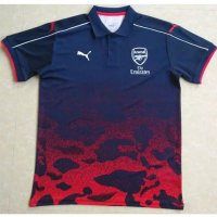 Arsenal 2017/18 Navy Red Polo Shirt