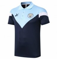 Manchester City 20/21 Polo Jersey Shirt Navy