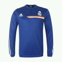 13-14 Real Madrid Blue Long Sleeve Crew Sweatshirt