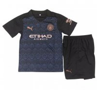 20/21 Kids Manchester City Away Soccer Kits (Shirt+Shorts)