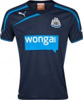 13-14 Newcastle United Away Navy Soccer Jersey Shirt
