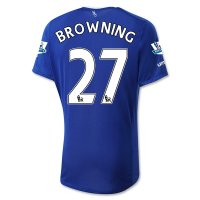 Everton 2015-16 BROWNING #27 Home Soccer Jersey