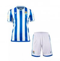 20/21 Kids Real Sociedad Home Soccer Uniforms