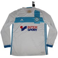 Olympique Marseille 16/17 Long Sleeve Home Soccer Jersey