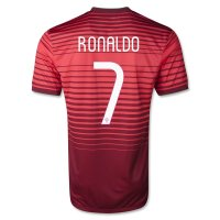 2014 Portugal 7 RONALDO Home Red Jersey Shirt