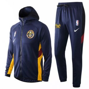 Denver Nuggets 2020/21 Tracksuits Navy Hoodie Jacket and Pants