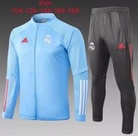 20/21 Kids Real Madrid Tracksuit Blue Training Jacket and Pants