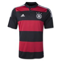 2014 Germany Away Black&Red Soccer Jersey Shirt