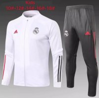 20/21 Kids Real Madrid Tracksuit White Training Jacket and Pants