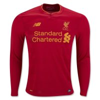 Liverpool 16/17 Long Sleeve Home Red Soccer Jersey