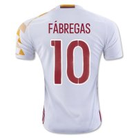 Spain 2016 FABREGAS #10 Away Soccer Jersey