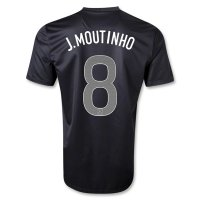 2013 Portugal #8 J.MOUTINHO Away Black Jersey Shirt